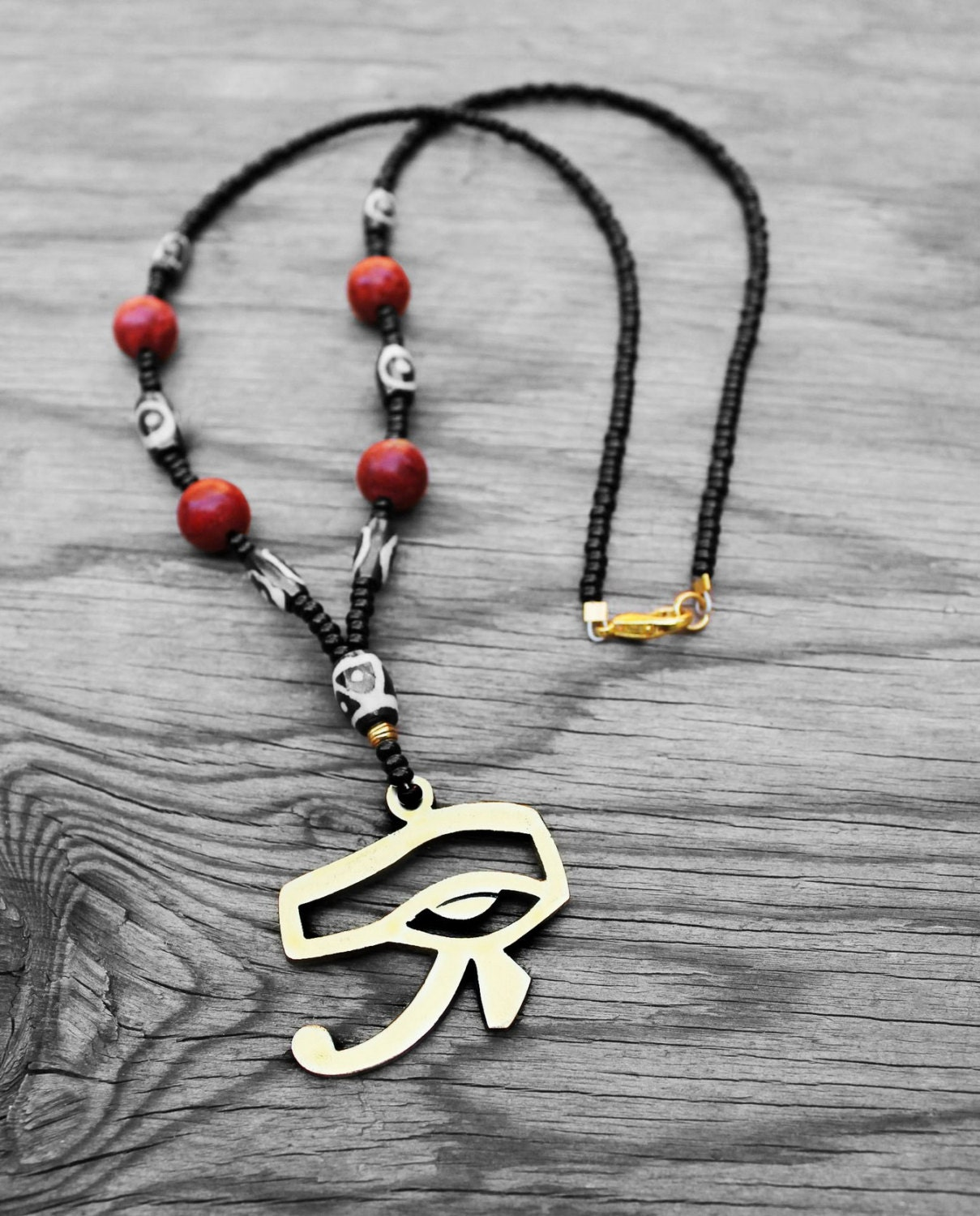 eye of horus necklace s necklace s by kongokollection