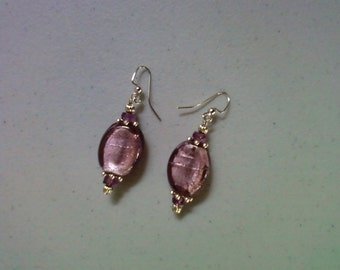 Amethyst Foil Earrings (1421)