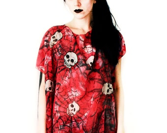 Skull dress tunic - day of the dead - psycho-billy clothing