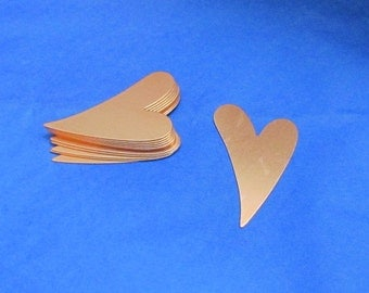 Copper Hearts Large - 46mm x 29mm - Hand Stamped Blanks