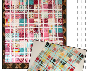 PDF Pattern- Plaid Party Quilt - Baby Quilt