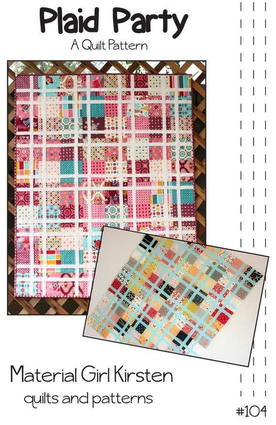 Plaid Baby Quilt: PDF Pattern Plaid Party Quilt Baby Quilt