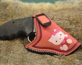Custom Holster for .38 special or 357 Hello Kitty