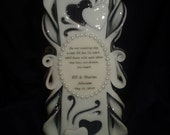 """12"""" Large Pudgy 3D heats with Swirl Accents ~ Wedding Unity Candle~ our exclusive Elephant Nose Style."""