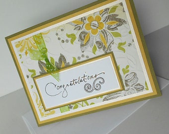 Congratulations Greeting Card: Blank & Handmade - Tapestry Rug