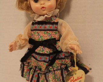 Effanbee Punkin Doll 11 inch Collectible Vintage Doll- Blond Hair with Tag