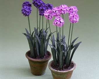 Allium Paper Flower kit for 1/12th Dollhouses, Florists and Miniature Gardens