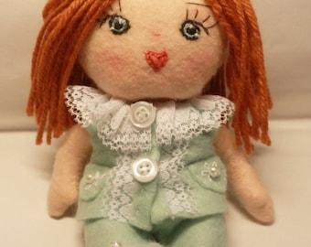 "Mini Articulated  "" Doll Samantha ""Instant Download -Art Doll  E-tutorial -Pattern PDF DIY"