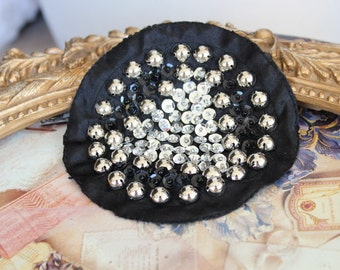 Cute  embroidered  and beaded   applique  black color