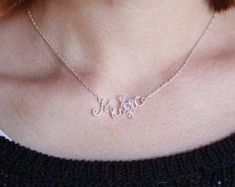 Music Necklace with Treble Clef