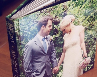 10x10 Flush Mount Wedding Album with Photo Wrap Cover