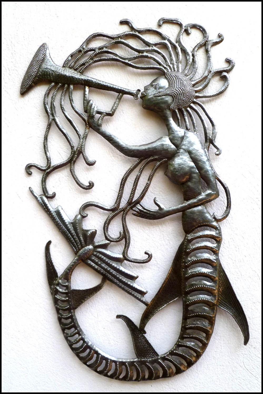 Metal Wall Art Mermaid Metal Wall Hanging Handcrafted
