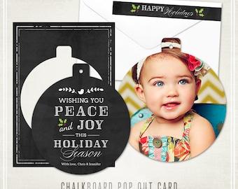 Chalkboard Christmas Luxe Pop Card & Address Label