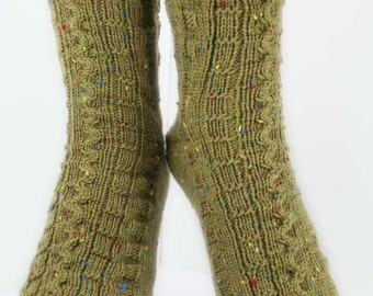 BOARDGAME SOCKS - Superwash Merino Wool, Nylon, Donegal Tweed