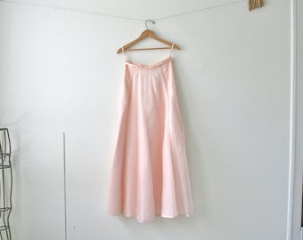 Pink Silk Chiffon Maxi Skirt