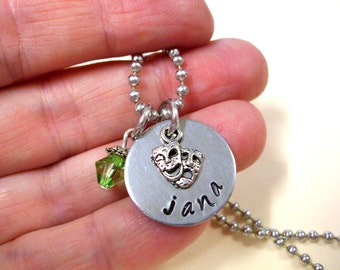 Theater Jewelry, Personalized Jewelry, Actor's Jewelry, Tragedy and Comedy Jewelry, Drama Jewelry