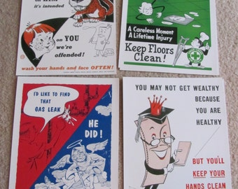 "Retro Vintage Safety Poster -- Circa 1950s  8"" x 11"" - Your Choice - Many to choose from!!!"