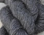 Homegrown Mill Spun Wensleydale Farm Wool 3 Ply Aran Weight Natural Grey Silver Black