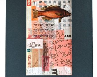 "OOAK Original art collage ""Pink 02"""