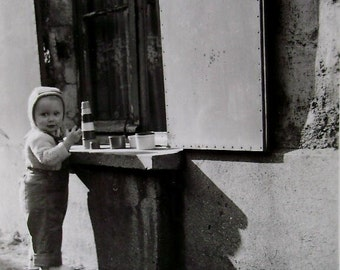 Vintage Photo - Playing Outside with Toys