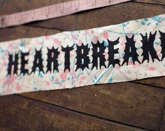 HEARTBREAKER Back Patch - OOAK