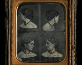 Rare Multiple View 1/6 Dag by HESLER - Woman Shows Hair Profile & Back to Camera