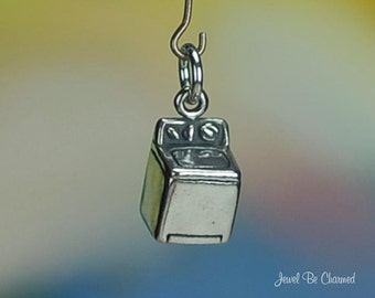 Washing Machine Charm Sterling Silver Washer Cleaning Appliance .925