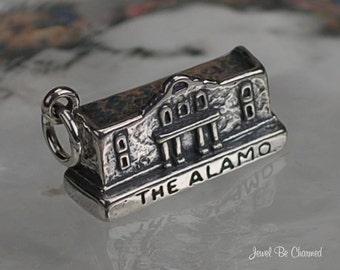 Sterling Silver The Alamo Charm Historic San Antonio Texas Solid .925