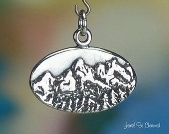 Sterling Silver Grand Teton National Park Charm Wyoming USA Solid .925
