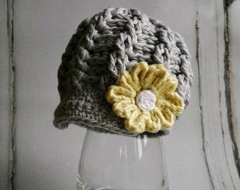 Crochet Newsboy Hat Pattern, Cabled Newsboy Hat Pattern for Baby and Toddler, Crochet Hat Pattern, Cotton Hat, Knit Pattern, Crochet Hat
