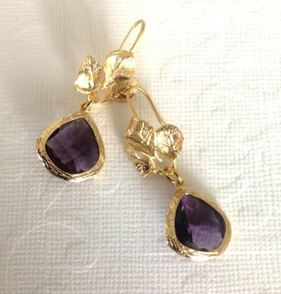 Dangle earrings Spring fashion Preppy jewelry Matt gold 3