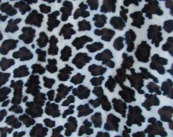 Faux Leopard Fur - 1/3 yard