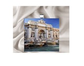 Scrabble Tile Pendant Necklace Italy Fountain of Trevi