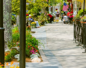 CAPE COD Photography ~ FALMOUTH Main Street, Pick Your Size Print, Massachusetts, Travel Art, New England, Cape Cod Photo, Liz Thomas