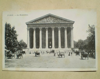 Paris - La Madeleine - Early 1900s - Antique French Postcard
