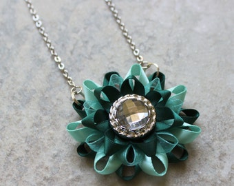 Teal Necklace, Teal Green Necklace, Teal Jewelry, Teal Bridesmaid Necklace, Teal Wedding Jewelry, Teal Green Jewelry, Teal and Aqua Necklace