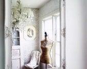 C L A S S I C, Ornate White Mirror Shabby Chic Salon French Cottage