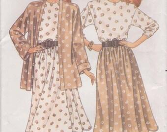 Easy Dress Pattern Top Skirt  Jacket Misses Size 18 - 22 Uncut Butterick 3002