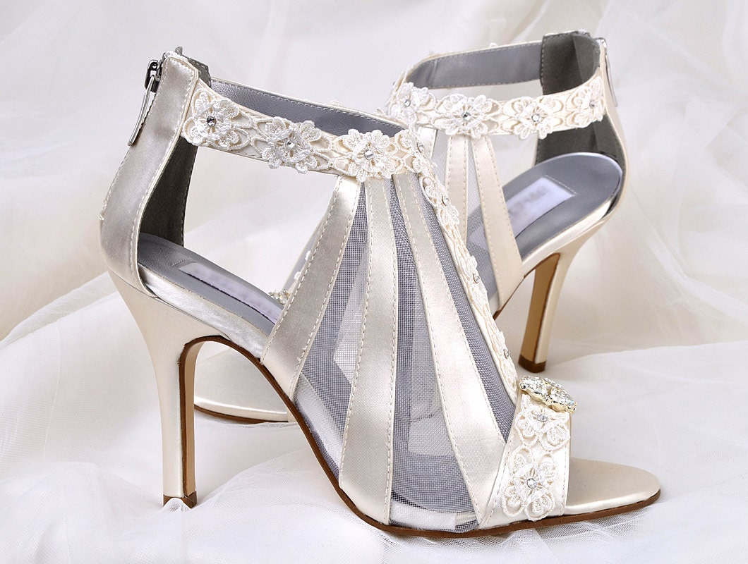 Wedding Shoes Vintage Wedding Lace 3.5 Heels