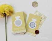 24 Scratch Off Cards for Bridal Shower or Bachelorette Game // Sunshine Yellow