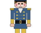 Nutcracker Cross Stitch Pattern - Digital File/ Instant Download - PDF File - X Stitch Pattern, Christmas Cross Stitch Pattern