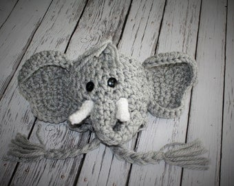 Elephant Hat - Baby Elephant Hat - Baby Shower Gift - Baby Hats - Baby Halloween Costume -  - by JoJo