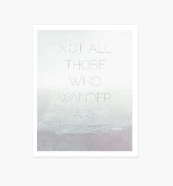 Not All Those Who Wander Are Lost, JRR Tolkien, ocean, beach