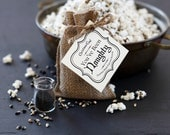 Christmas coal popcorn - black popcorn and black sea salt - edible lump of coal - dellcovespices