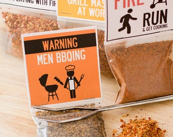 Grilling BBQ rubs - barbecue spices gift set of grilling seasonings - manly gift for guys for Father's Day