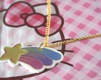 Pastel Shooting Star - Kawaii Necklace !!