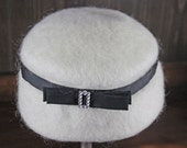 Vintage White Wool  Hat by Newmann 7 Engler Inc.