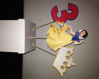 Princess Snow White Centerpiece Picks - Set of 3