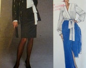 Vogue Paris Original 2387 Womens Givenchy Jacket Blouse Sash & Skirt Sewing Pattern Bust 36 38 40