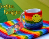 Rainbow Coffee Tea Cup Mag Cozy